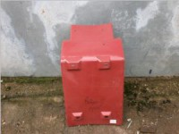 Брызговик передней оси правый HOWO стеклопластик